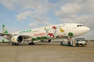 Hello Kitty plane: Hello Kitty Themed Aircraft