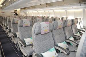 Hello Kitty plane: Hello kitty headrests