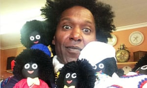 Lemn Sissay with golliwogs