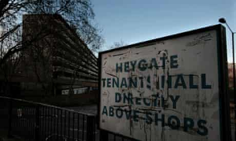 The Heygate estate in Elephant and Castle