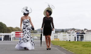 Diana Hart and Lorraine Corrigan enjoys Ladies Day during day two of the William Hill Ayr Gold Cup Festival at Ayr Racecourse, Scotland.