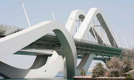 Hadid-designed Sheikh Zayed bridge in Abu Dhabi.