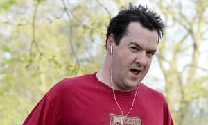 George Osborne jogging