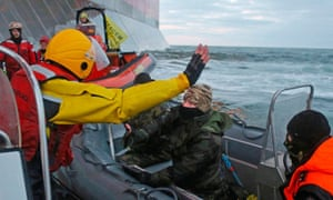 Greenpeace activists could be charged with terrorism after ship stormed