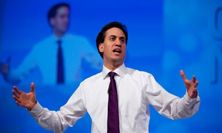 Ed Miliband speaking at the Labour party conference in 2012