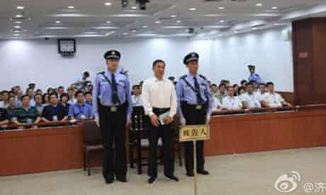 Bo Xilai listens to the verdict.