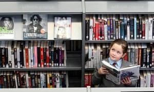 Schoolgirl in Antrim library