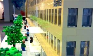 Klarna's new office modelled in Lego