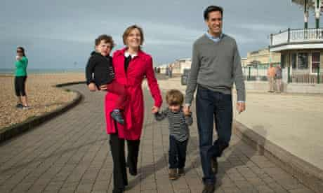 Ed Miliband in Brighton with family ahead of party conference 2013