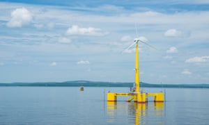 VolturnUS 1:8, the first grid-connected offshore wind turbine to be deployed off the coast of North America