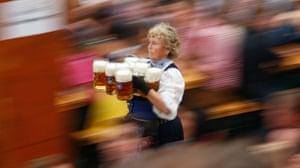 """oktoberfest: Waitress  in the """"Hofbraeuzelt' beer tent"""