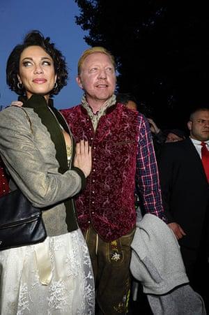 oktoberfest: Boris Becker And Sharlely Becker Attend The Oktoberfest Beer Festival