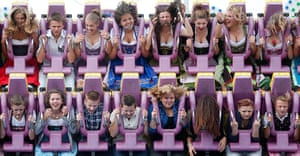 oktoberfest: Some people are enjoying this ride more than others