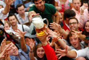 oktoberfest: Visitors reach for the first mug of beer