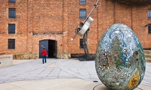 American Visionary Art Museum, Baltimore, with Cosmic Galaxy Egg by Andrew Logan.