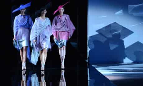 Giorgio Armani's show for Milan fashion week