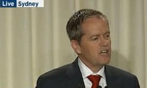 Bill Shorten at the Labor leadership debate in Sydney