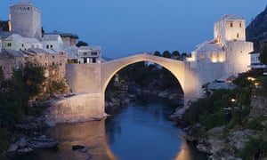The Old Bridge in Mostar, which was reconstructed in 2004 after it was destroyed in 1993