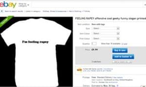 That 'I'm feeling rapey' T-shirt on the eBay website