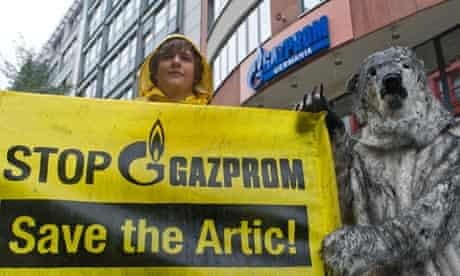 Protest against Gazprom