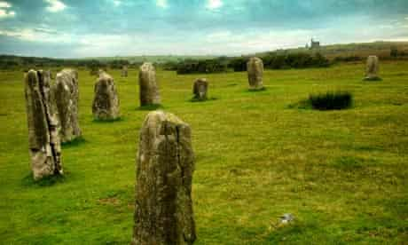 The Hurlers, stone circles on Bodmin Moor, Cornwall