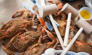 Steamed spiced crab.