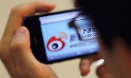 Sina Weibo microblogging site