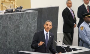 United States President Barack Obama addresses the 68th session of the General Assembly at the United Nations in New York.