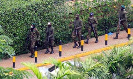 Kenya defence forces in Nairobi on 24 September