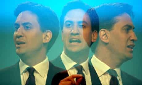 Guardian photographer Graeme Robertson captures everyside of Ed Miliband as he speaks.