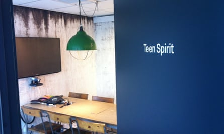 A Nirvana-themed meeting room at Spotify's HQ