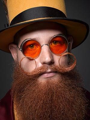 Beard championships: Jeffrey Moustache