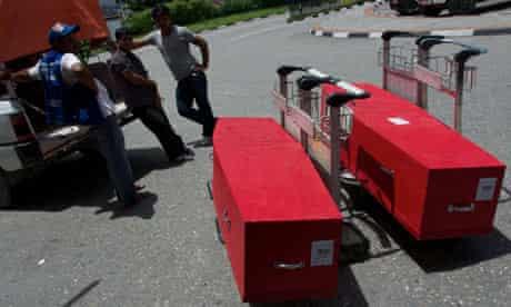 coffins-kathmandu-airport