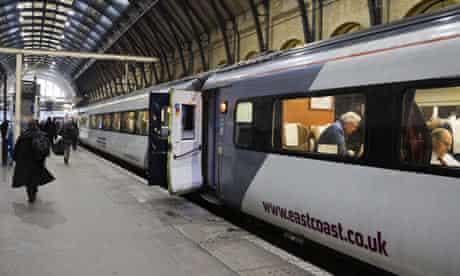 East Coast train at Kings Cross