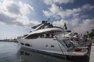 Yachts: Sunseeker yachts at the 52nd International Boat Show in Barcelona, Spain