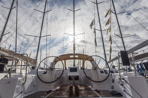 Yachts: A Dufour 450 yacht in Barcelona