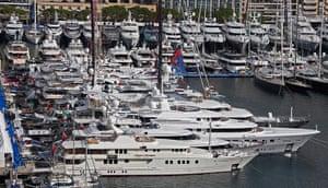 Yachts: Luxury boats are seen in Monaco port