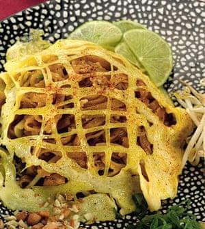 Vegetarian pad Thai from The Adventurous Vegetarian.