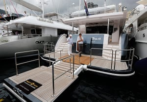 Yachts: The superyacht Majesty 105 by Gulf Craft is exhibited