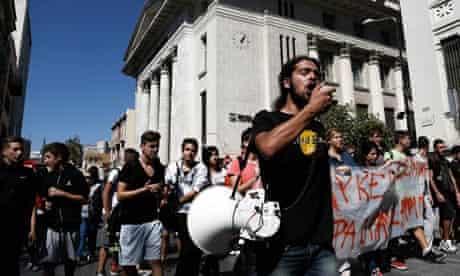 Anti-fascist protest against neo-nazi Golden Dawn in Greece