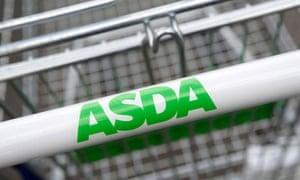 Asda logo on trolley