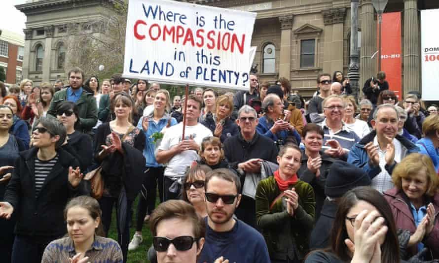 Melbourne protest refugees