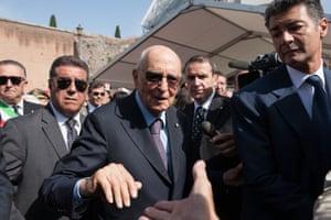 Italian President Giorgio Napolitano earlier this month.