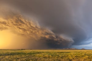 Storm cloud formations: A picturesque storm formation during this year's tornado season in the Unit