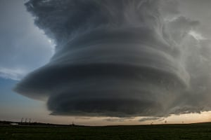 Storm cloud formations: a supercell thunderstorm near Broken Bow, Oklahoma
