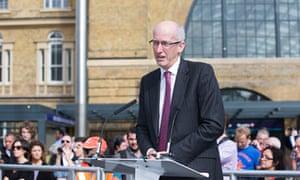 Davidd Higgins at King's Cross Square in London