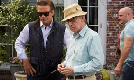 Woody Allen on the set of Blue Jasmine.