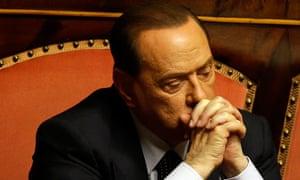 Silvio Berlusconi was convicted for tax fraud.