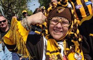 AFL Parade: Hawthorn Hawks fan