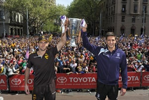 AFL Parade: Captains hold the cup